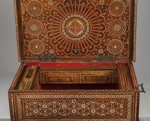Spain, Granada : Wood Casket Mudejar Art circa 1500 -