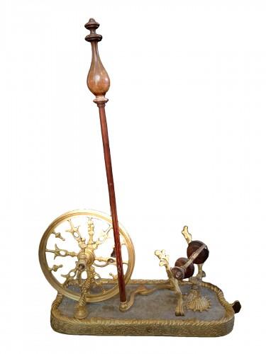 Living room spinning wheel