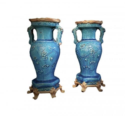 Pair of ceramic vases