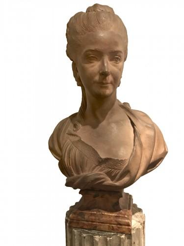 Terracotta woman's bust