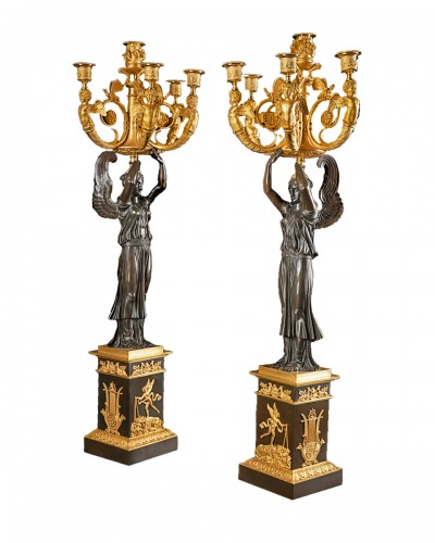 Pair of candelabra - Claude Galle (1759-1815)
