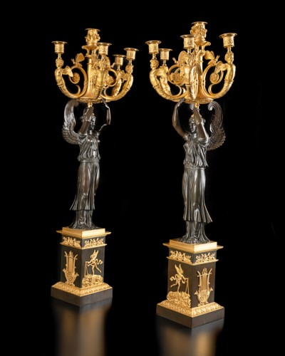 Lighting  - Pair of candelabra - Claude Galle (1759-1815)
