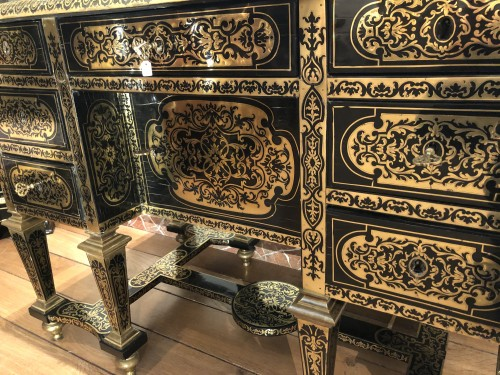 Furniture  - Mazarin desk attributed to Alexandre Jean Oppenordt (1639-1715)