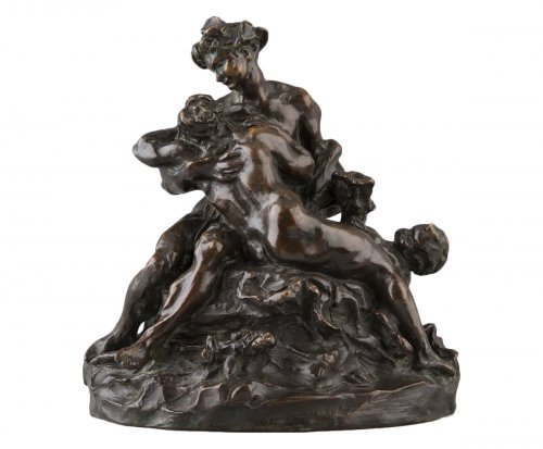 Bacchus comforting Ariane - Aimé-Jules DALOU (1838-1902)