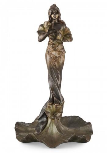 Oriental flower woman - Emmanuel VILLANIS (1858–1914)