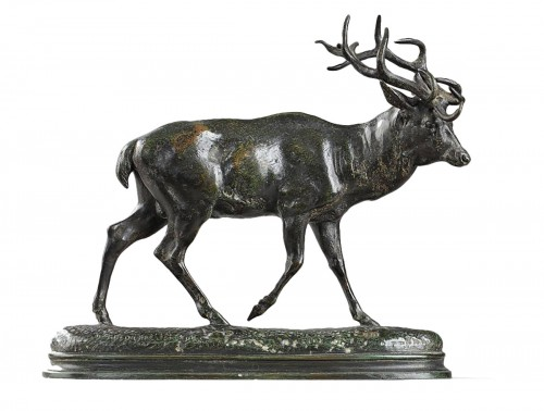 Deer walking - Antoine-Louis Barye (1796-1875)