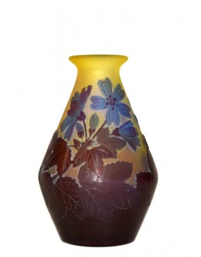 """""""Blue flower"""" vase - GALLÉ"""