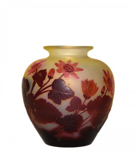 """Red buttercups"" vase - GALLÉ"