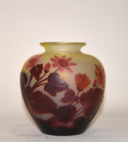 """Red buttercups"" vase - GALLÉ -"