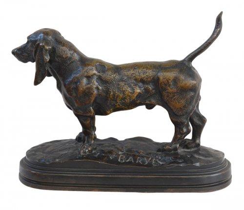 Basset hound - Antoine-Louis Barye (1796-1875)