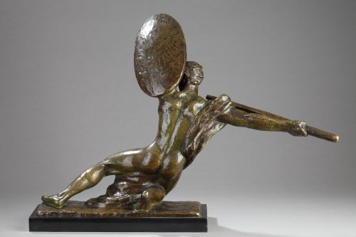 Warrior with shield - Alexandre KELETY (1918-1940) - Art Déco