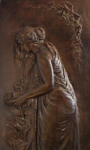 Melancholia - Jean MAGROU (1869-1945) - Sculpture Style Art nouveau