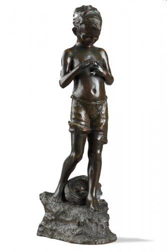 Boy with fishes - Giovanni de MARTINO (1870-1935)