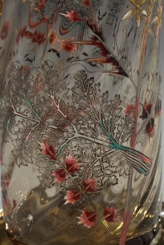 """Vase """"Cristallerie"""" - GALLÉ - Art nouveau"""