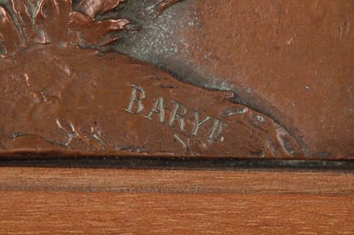 Sculpture  - Low-relief « Eagle with Chamois » - Antoine-Louis Barye (1796-1875)