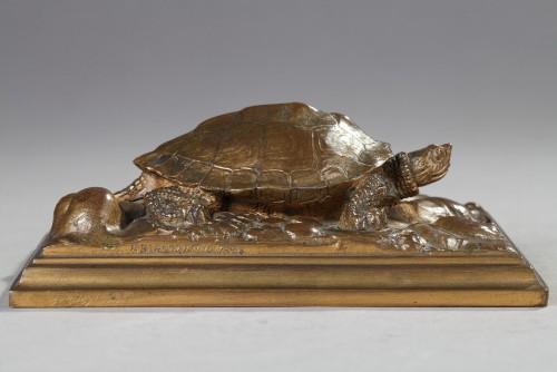 Turtle - Antoine-Louis BARYE (1796-1875) - Sculpture Style