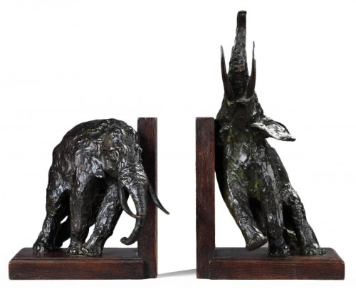 Pair of elephants bookends - Ary BITTER (1883-1973)