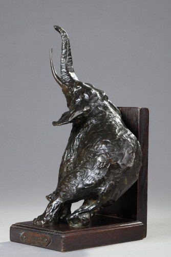 Pair of elephants bookends - Ary BITTER (1883-1973) -