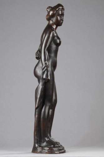 Femme au Chignon, also named Baigneuse Debout - Aristide MAILLOL (1861-1944 - Sculpture Style Art Déco