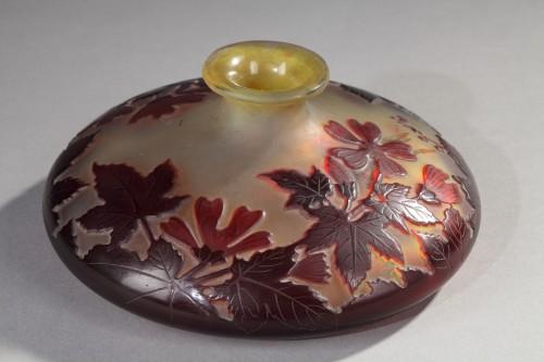 Red flowers Vase - GALLÉ - Glass & Crystal Style Art nouveau