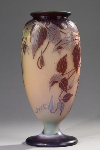 Blue Passiflora Vase - GALLÉ - Glass & Crystal Style Art nouveau