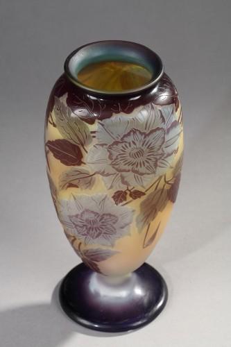 Glass & Crystal  - Blue Passiflora Vase - GALLÉ