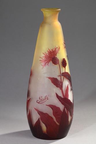 Cornflower vase - GALLÉ - Glass & Crystal Style Art nouveau