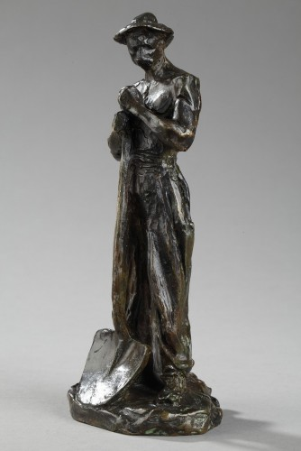 Man with shovel on his way to work - Aimé-Jules DALOU (1838-1902) - Sculpture Style Napoléon III