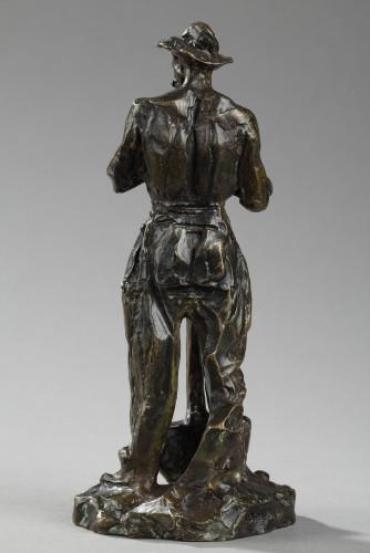 Sculpture  - Man with shovel on his way to work - Aimé-Jules DALOU (1838-1902)