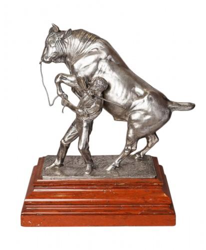 Bull with handler - Isidore-Jules BONHEUR (1827-1901)
