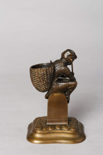 Sculpture  - Monkey match-holder - Christophe FRATIN (1801-1864)