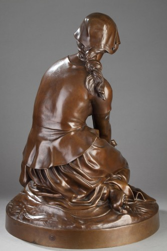 Sculpture  - Joan of Arc in Domrémy - Henri Michel CHAPU (1833-1891)