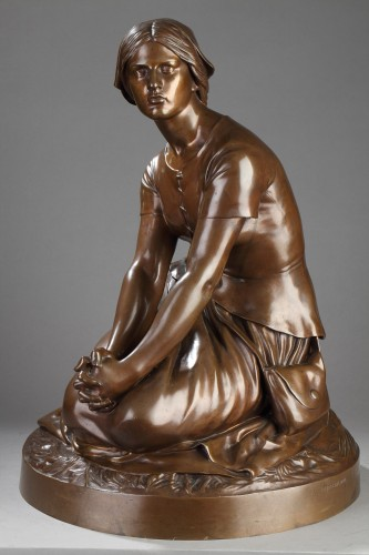 19th century - Joan of Arc in Domrémy - Henri Michel CHAPU (1833-1891)