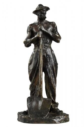 Terrassier leaning on a Shovel - Aimé-jules Dalou (1838-1902)