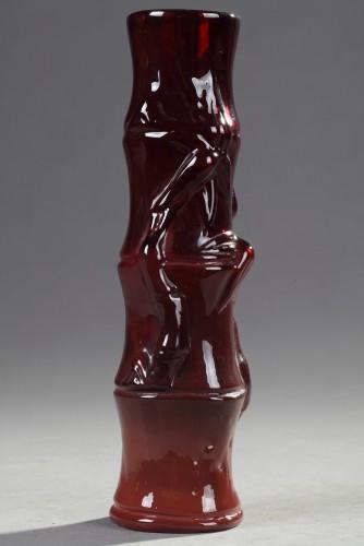 "Vase ""Bamboo"" - Ernest LEVEILLE (1841–1913) - Glass & Crystal Style Art nouveau"
