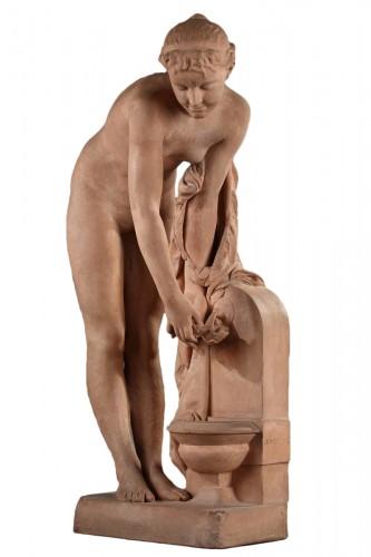 Girl at the fountain - Alexandre SCHOENEWERK (1820-1885)