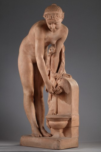 Girl at the fountain - Alexandre SCHOENEWERK (1820-1885) - Sculpture Style Napoléon III
