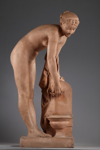 Sculpture  - Girl at the fountain - Alexandre SCHOENEWERK (1820-1885)