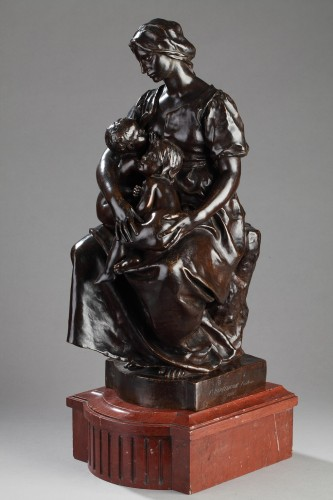 Motherhood also named Charity - Paul DUBOIS (1829-1905) - Sculpture Style