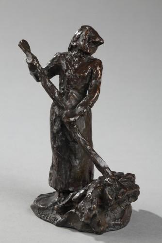Ramasseuse de Foin - Aimé-jules DALOU (1838-1902) - Sculpture Style