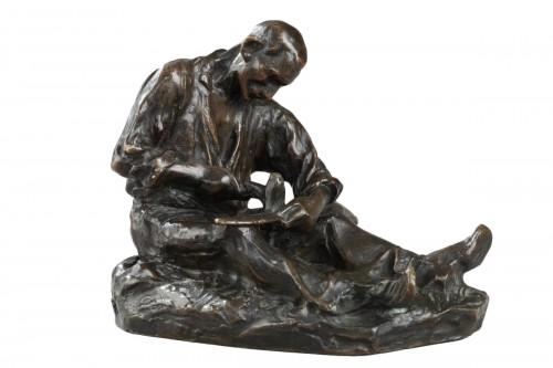 The Scythe Repairer - Aimé-Jules DALOU (1838-1902)