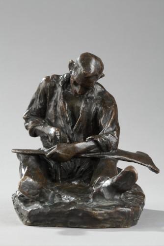 The Scythe Repairer - Aimé-Jules DALOU (1838-1902) - Sculpture Style