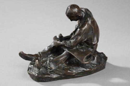 Sculpture  - The Scythe Repairer - Aimé-Jules DALOU (1838-1902)