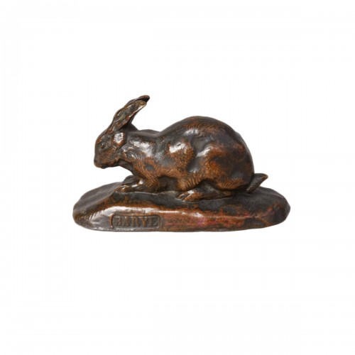Rabbit with erect ears - Antoine-Louis BARYE (1796-1875)