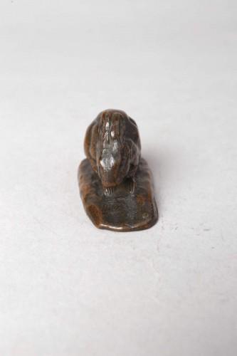 Rabbit with erect ears - Antoine-Louis BARYE (1796-1875) -