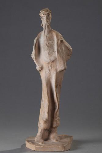 The Monocled Gentleman - Bernhard Hoetger (1874-1949) - Sculpture Style Art nouveau