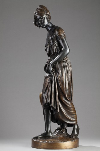 Black slave carrying water - Charles CUMBERWORTH (1811-1852) - Sculpture Style Louis-Philippe