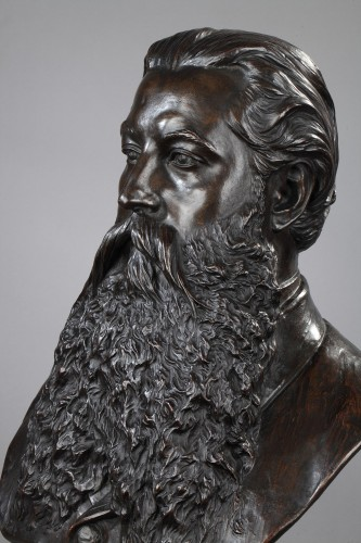 Portrait of a Gentleman- Marceli GUYSKI (1830-1893) - Sculpture Style