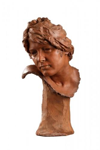Head of a woman - Jules DESBOIS (1851-1935)