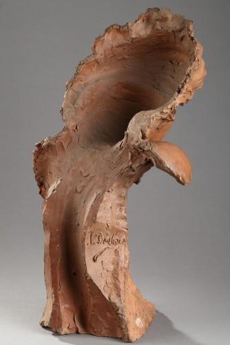 Sculpture  - Head of a woman - Jules DESBOIS (1851-1935)
